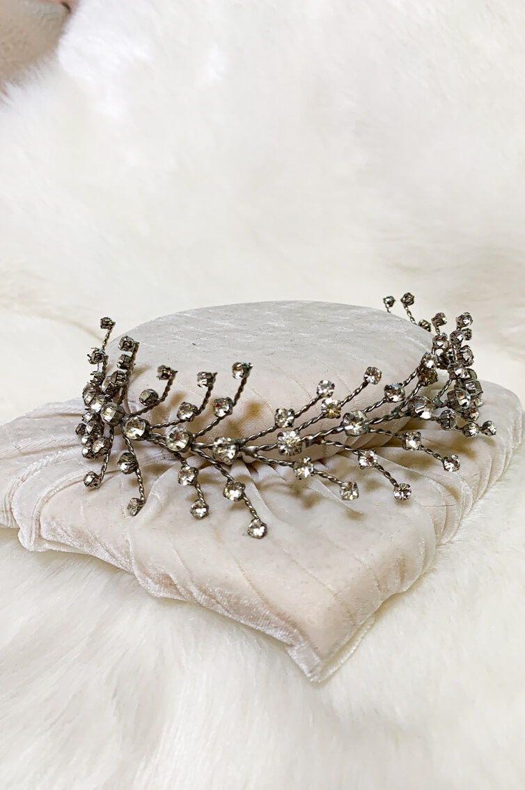 HEADPIECE - METALLIC HEADBAND - SILVER