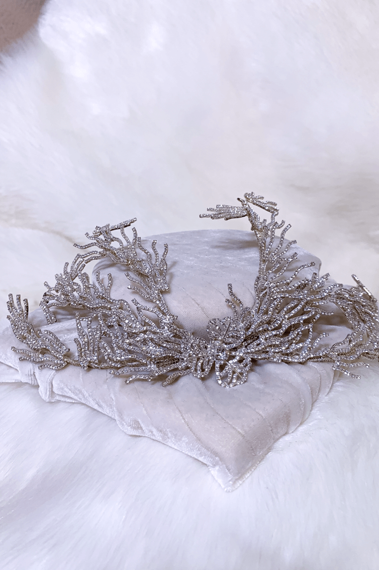 SILVER ICE  BRANCHES HEADPIECE