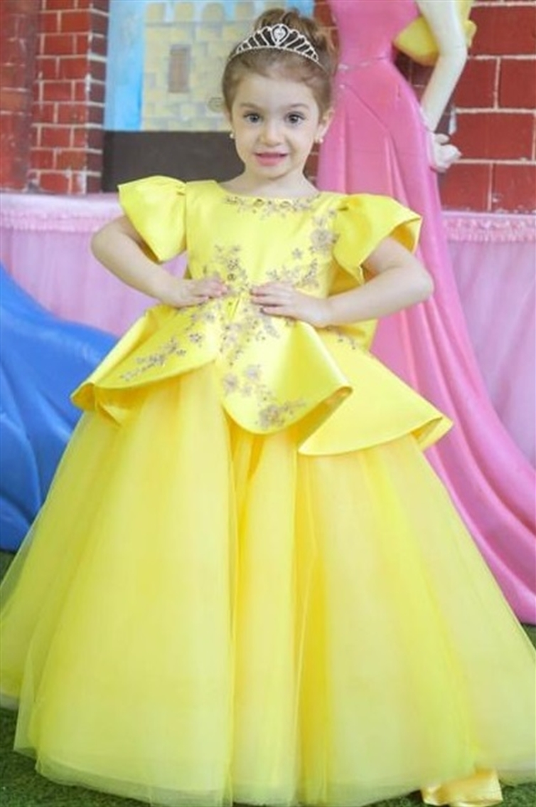 BABY - BELLE - FLOWER GIRL - SIMPLE - RUFFLES