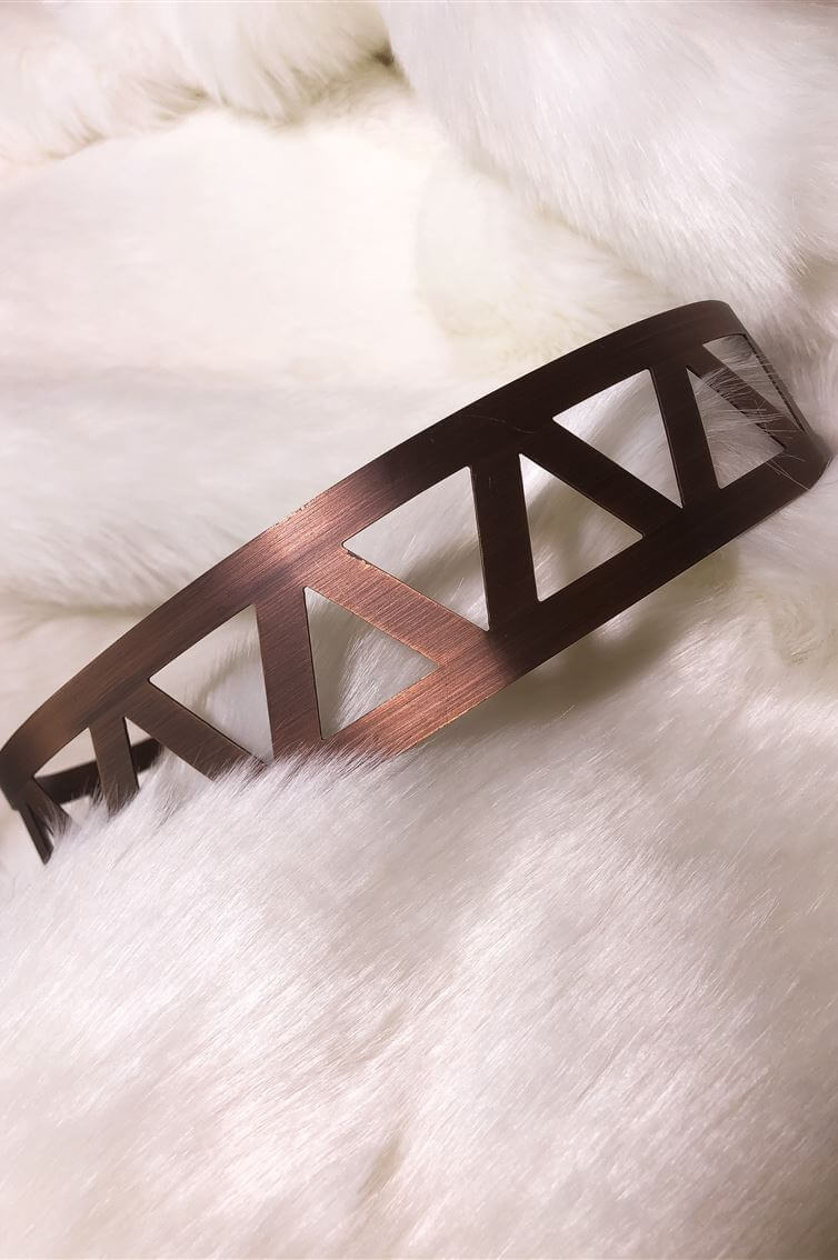 BELT - ROSE GOLD - METALLIC - TRIANGLES