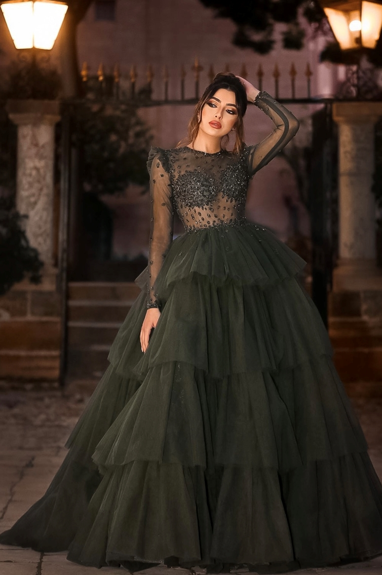 Green Fierce - princess - ruffles