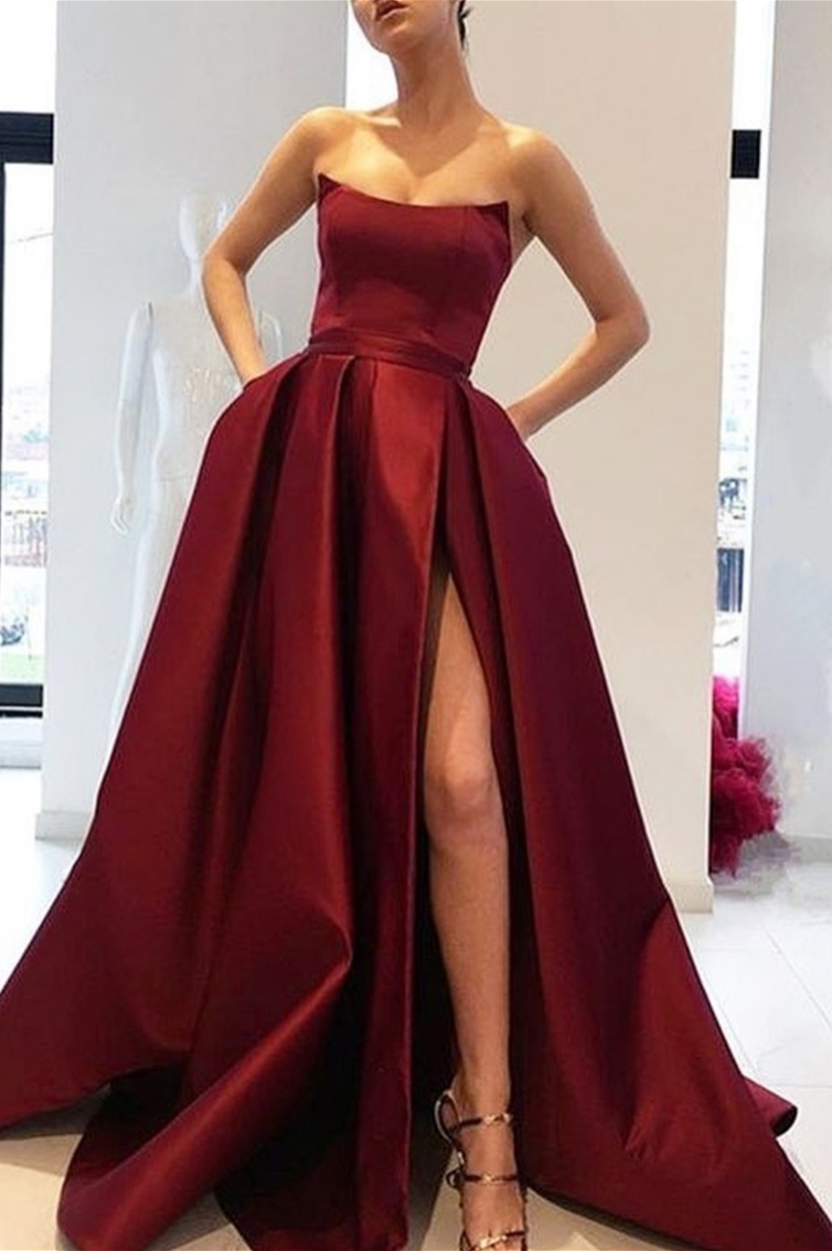 ''JULIANA'' - LONG - STRAPLESS - PRINCESS CUT - SLIT
